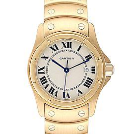 Cartier Santos Ronde 18K Yellow Gold Unisex Watch W20028G1