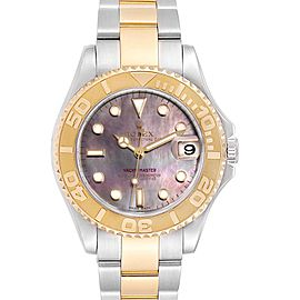 Rolex Yachtmaster 35 Midsize Steel Yellow Gold MOP Dial Watch 168623