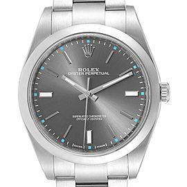 Rolex Oyster Perpetual 39 Stainless Steel Mens Watch 114300 Box