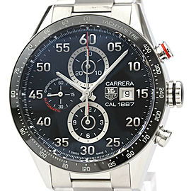 TAG HEUER Stainless steel Carrera Calibre Chronograph Watch HK-2017