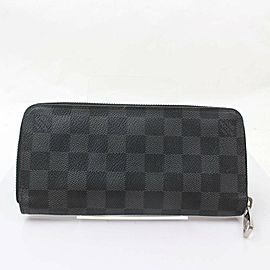 Louis Vuitton Damier Graphite Zippy Organizer Wallet 871032