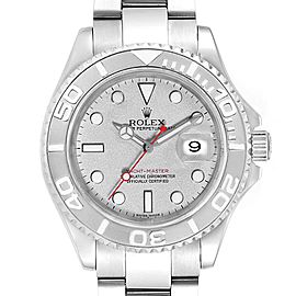 Rolex Yachtmaster 40mm Steel Platinum Mens Watch 16622 Box Papers