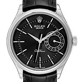 Rolex Cellini Date 18K White Gold Automatic Mens Watch 50515 Unworn