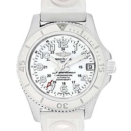 Breitling Superocean II 36 Hurricane White Ladies Watch A17312 Box Papers