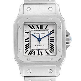 Cartier Santos Galbee XL Automatic Steel Mens Watch W20098D6