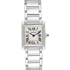 Cartier Tank Francaise White Gold Quartz Ladies Watch W50012S3