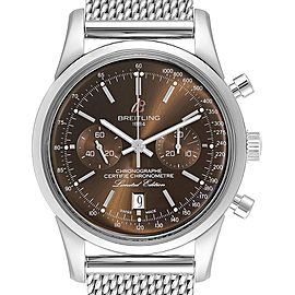 Breitling Transocean Bronze Dial Limited Edition Mens Watch AB0155