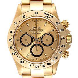 Rolex Daytona Inverted 6 Yellow Gold Chronograph Mens Watch 16528