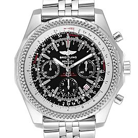 Breitling Bentley Motors Black Dial Chrono Mens Watch A25362 Box Papers