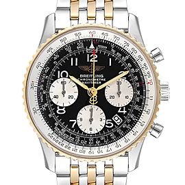 Breitling Navitimer Steel Yellow Gold Black Dial Mens Watch D23322