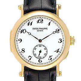 Patek Philippe Calatrava Officier Yellow Gold Mens Watch 3960 Box Papers