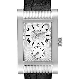Rolex Cellini Prince White Gold Silver Dial Mens Watch 5441 Box Card
