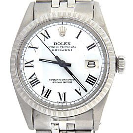 Mens Rolex Stainless Steel Datejust White Roman 1603