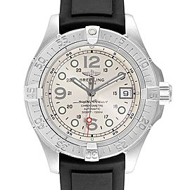 Breitling Superocean Steelfish Rubber Strap Steel Mens Watch A17360