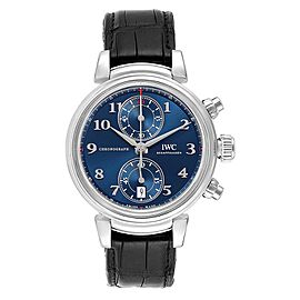 IWC Da Vinci Blue Dial Chrono Automatic Steel Mens Watch IW393402