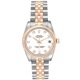 Rolex Datejust 31 Midsize Steel Rose Gold Diamond Ladies Watch 178271