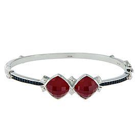 Stephen Webster 925 Sterling Silver Red Coral & Black Sapphire Haze Bracelet