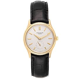 Patek Philippe Calatrava 18k Yellow Gold Mens Watch 3923