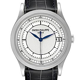Patek Philippe Calatrava White Gold Automatic Mens Watch 5296G Box Papers