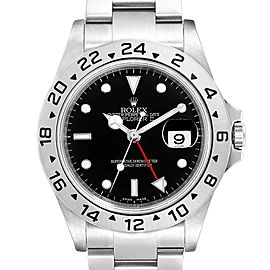 Rolex Explorer II 40 Black Dial Red Hand Steel Mens Watch 16570 Unworn