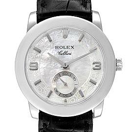 Rolex Cellini Cellinium Platinum Mother of Pearl Mens Watch 5240