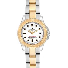 Rolex Yachtmaster Steel Yellow Gold White Dial Ladies Watch 69623