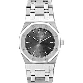 Audemars Piguet Royal Oak Black Dial Steel Ladies Watch 66007ST