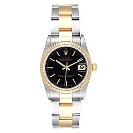 Rolex Datejust Midsize Black Dial Steel Yellow Gold Ladies Watch 78273