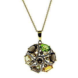 Le Vian 14K Yellow Gold Diamond, Topaz, Citrine, Peridot Pendant