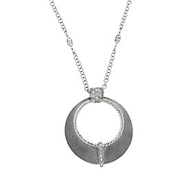 Philippe Charriol 18K White Gold & Diamond Necklace
