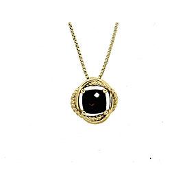 David Yurman 18K Yellow Gold Black Onyx Necklace