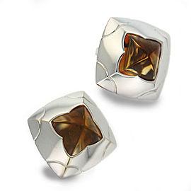 Bulgari Pyramide 18k Citrine Earrings