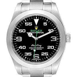 Rolex Oyster Perpetual Air King Black Dial Steel Watch 116900 Unworn