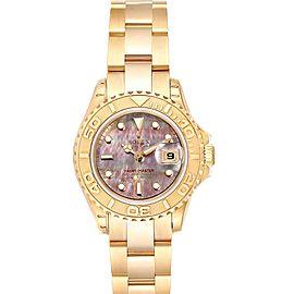 Rolex Yachtmaster 29 Yellow Gold MOP Dial Ladies Watch 169628 Unworn