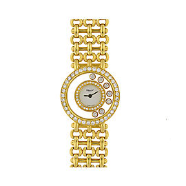 Chopard 'Happy Diamonds' Women's 18K Yellow Gold With Diamonds Watch