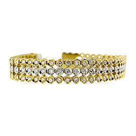 18K White And Yellow Gold Diamond Bracelet