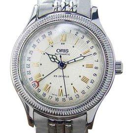 Oris Date Pointer 7465 B Stainless Steel Automatic Dress Men 1990s Watch
