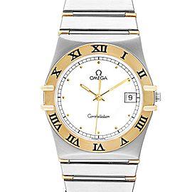 Omega Constellation Steel 18K Yellow Gold Mens Watch 396.1076