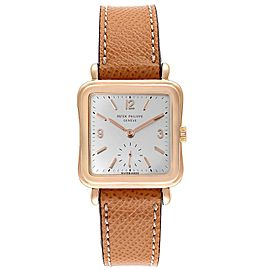 Patek Philippe Calatrava Rose Gold Manual Vintage Mens Watch 2493
