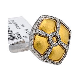 Gurhan 24K Yellow & 14K White Gold Diamond Raison Ring