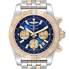 Breitling Chronomat Evolution Steel Rose Gold Mens Watch CB0110 Box Card