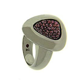 Roberto Coin Capri Plus Silver Ruthenium-Tone Rhodolite Ring Sz 6.5