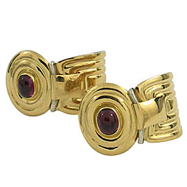 La Nouvelle Bague 18k Yellow Gold and Sterling Silver Rhodolite Garnet Earrings