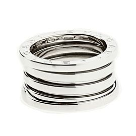 Bulgari 18K White Gold 4 Band In Ring Size 4.5