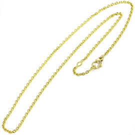 Chanel 18K Yellow Gold 750 Chain Necklace