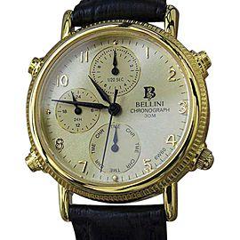 Bellini Gold Plated & Leather Quartz 32mm Unisex Watch c1990