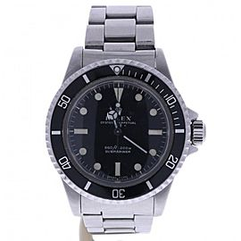 Rolex Submariner 5513 Stainless-Steel Automatic Black Dial Vintage 40mm Mens Watch 1965