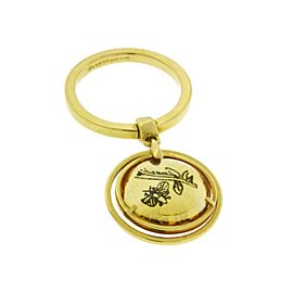 Gucci Flora 18K Yellow Gold Lemon Quartz Charm Ring Size 6.75