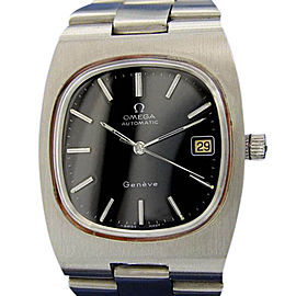 Omega Geneve Stainless Steel Vintage 36mm Mens Watch
