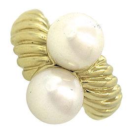 David Yurman 18K Yellow Gold with Pearl Ring Size 6
